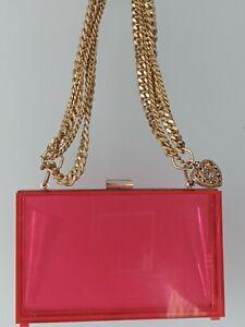 PINK CLEAR PLASTIC BAG SIZE 18X11X6 CM