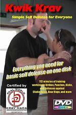 EASY SELF DEFENSE, Krav Maga Basic training on one disk, Simple instruction DVD.