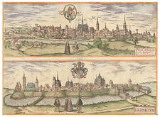 Nysa Legnica Lower Silesian Poland bird's-eye view map Braun Hogenberg ca.1617