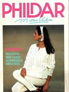 vintage layette Phildar catalogue vintage knitwear knitting magazine Phildar magazine layette knits 56 knitting explanations knitting magazine
