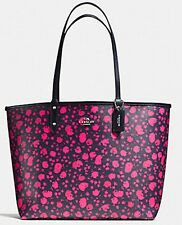 COACH Reversible City Tote Pink Ruby Multicolor Midnight F55862