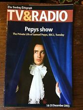STEVE COOGAN in the Private Life of Samuel Pepys rare UK magazine 2003