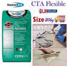 More details for bond it cta flexible tile adhesive white cement ceramic floor wall non slip 20kg