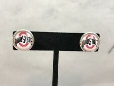 The Ohio State Buckeyes Button Pierced Earrings New Gift