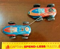 1950s VINTAGE TIN TOY GRAND PRIX RACING CARS WIND-UP WEST GERMANY WORKING VGC!!!