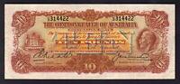 Australia R-55. (1927) 10 Pounds - Riddle/Heathershaw.. George V Portrait.. gVF