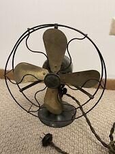 "Antique 9"" General Electric Whiz Brass Fan Working/Original Cord original"