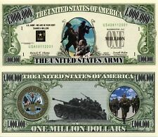 US Army Million Dollar Bill LOT Novelty Money FREE Shipping