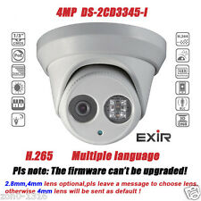 Hikvision DS-2CD3345-I 4MP POE IR H.265 EXIR Turret Network Outdoor Dome Camera