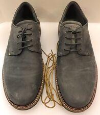 Ecco Ian Tie Lace Oxford Plain Toe Moonless Grey Gray Shoes Men 8 - 8.5 US