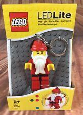 "LEGO Led Lite Key Ring Chain Light Santa Claus Minifigure Keychain 3"" NEW"