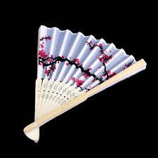 Favors Wedding Party Hand Folding Blossom Bamboo Fan Plum