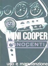 Innocenti Mini Cooper 1000 Mk 1,5 Libretto uso e manutenzione Copia Anastatica