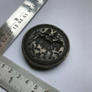 Antique or old bell metal jewelry stamp die seal hindu god and goddess pattern
