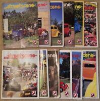 Lot of 12 Street Scene Magazines 1984-1990 National Street Rod Association HR2