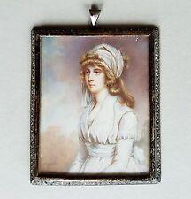 Portrait Miniatur einer jungen Frau, Gouache, um 1800., John Hoppner