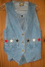 Designs Limited Star Studded Stonewashed Denim Shorts (Size L) & Vest (Size M)