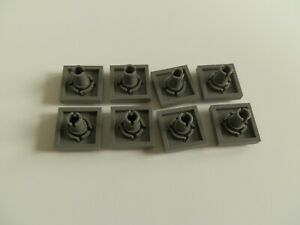 Lego 2476 # 8x Fliese 2x2 mit Pin  in grau alt dunkelgrau 4482 4706
