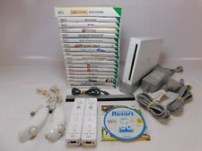 Nintendo WII CONSOLE RVL-001 with 19 x Games inc. MARIO KART - Tested / WORKING