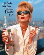 JOANNA LUMLEY Autograph Signed ABSOLUTELY FABULOUS PATSY Photograph - To Patrick