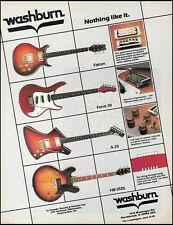The 1983 Washburn Falcon Force 30 A-20 HB-35DL guitar ad 8 x 11 advertisement