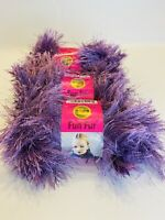 Lion Brand Fun Fur Yarn Lot Of 4 Orchid Bulky Light Lavender 1.75 Oz 64 Yds