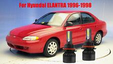 LED ForELANTRA 1996-1998 Headlight Kit 9007 HB5 6000K White Bulbs High-Low Beam