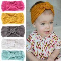 Cute Girls Kids Baby Toddler Crochet Bow Headband Hair Band Accessories Headwear