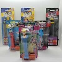 PEZ lot of 6 Carded Unopened Thomas the Train Cinderella NASCAR Batman Superman