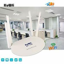 KuWFi 4G LTE Router Wireless WiFi Internet 300Mbps Unlocked with 4pcs Antennas