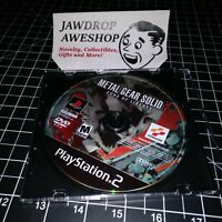 METAL GEAR SOLID 2 SONS LIBERTY PS2 (DISC ONLY)USED, TESTED. WEAR. PLAYSTATION 2