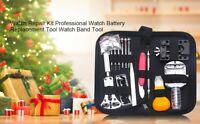 144 PCS Watch Repair Tool Kit Watchmaker Strap Pin Battery Cover Bracelet T1