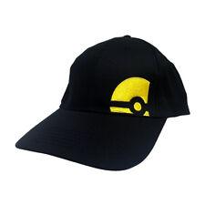 Black Hat Yellow Pokeball Pokemon Go Costume Cosplay Cap Avatar Ash Ketchum Gift