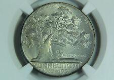 1935 Connecticut Half Dollar Silver Commemorative NGC MS 65 Toned