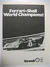 1972 FERRARI-SHELL WORLD CHAMPIONS AUSTRALIAN FULLPAGE MAGAZINE ADVERTISEMENT