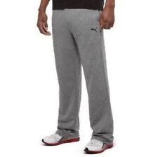 NEW PUMA MEN'S FLEECE PANTS Gray Heather - Size Medium
