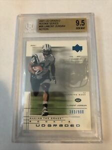 LaMont Jordan 2001 UD Graded Portrait Rookie Card #88 Jets Beckett BGS 9.5 GEM