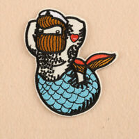 Embroidered Animal Mermaid Patches Iron on Applique Fabric Sticker Clothes Jeans