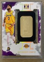 2019-20 Impeccable 1/2 troy ounce 14K Gold NBA Logoman Lakers Anthony Davis #1/8