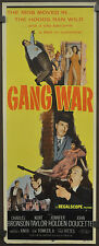 GANG WAR 1958 ORIGINAL 14X36 MOVIE POSTER CHARLES BRONSON KENT TAYLOR