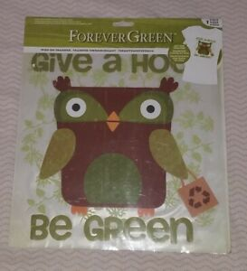 Forever Green Soy Ink Transfer Iron On Print Eco Friendly Print  Give A Hoot