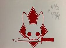Tactical Decal Knife Bunny Army Ranger Navy Seal Car Truck Window Vehicle Stick