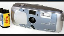 Vintage Olympus i10 APS Film Camera with Case, Wrist Strap, Manual & Box