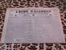 Journal - L'Echo d'Alençon n° 1404, 26/01/1922