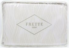 "Frette Sandglass Duvet Cover, KING Beige / Ivory (104"" x 91"") - NEW"