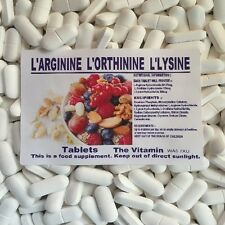 """L-Arginine, L-Ornithine, L-Lysine 90 Tablets """"Lean muscle mass""""         (L)"""