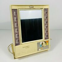 Vintage Clairol True To Light II LM-2 Double Sided Lighted Make Up Mirror