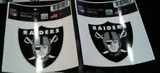2  NEW NFL RAIDERS MULTI -USE  DECALS