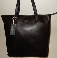 New American Leather Co. Glove Leather Zip Top Tote w/ Accessory Black