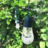 10x Solar Powered Retro Bulb String Lights For Garden Outdoor Fairy Summer Lamps